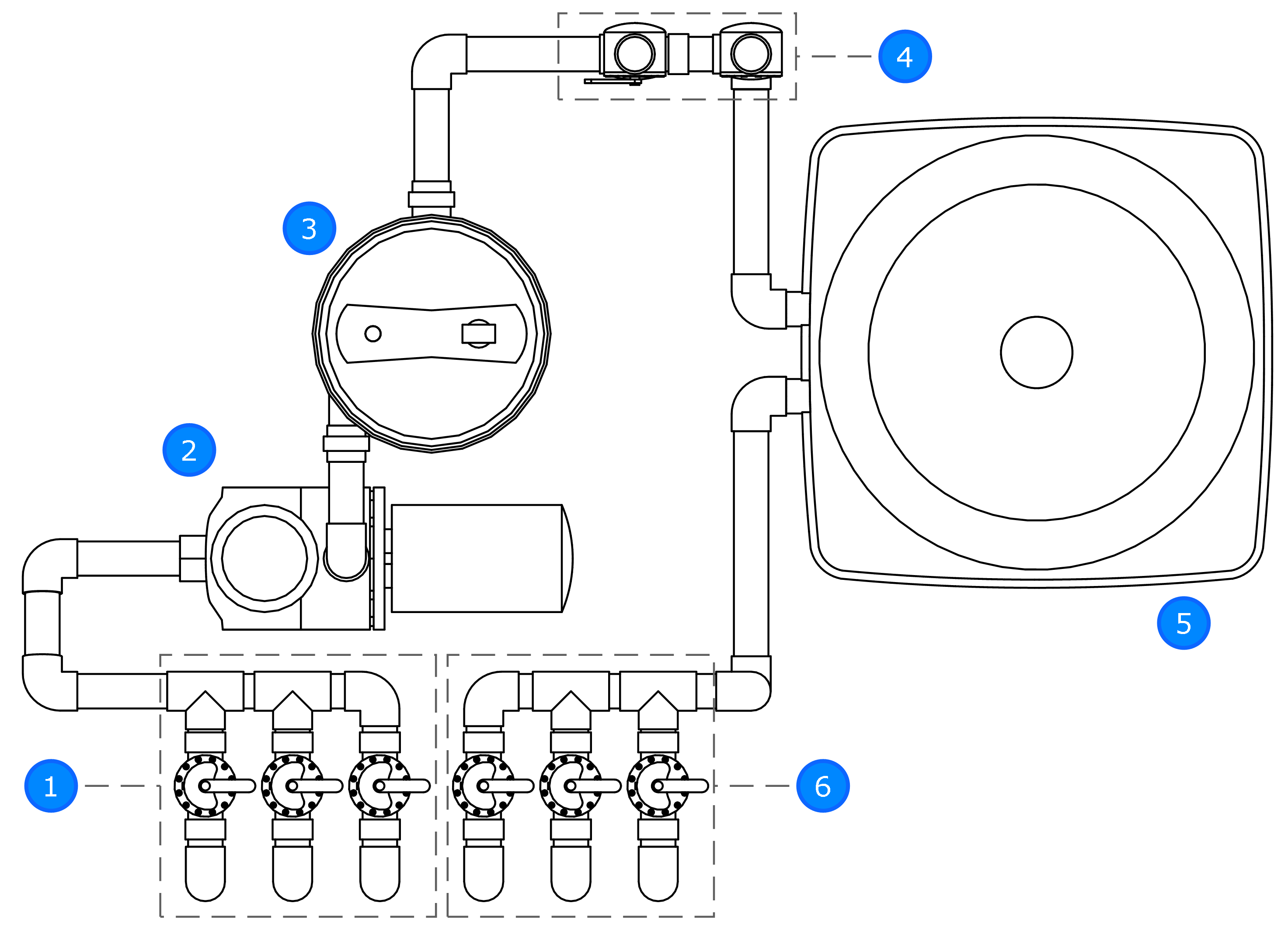 Solar Pool Heat Plumbing Drawing
