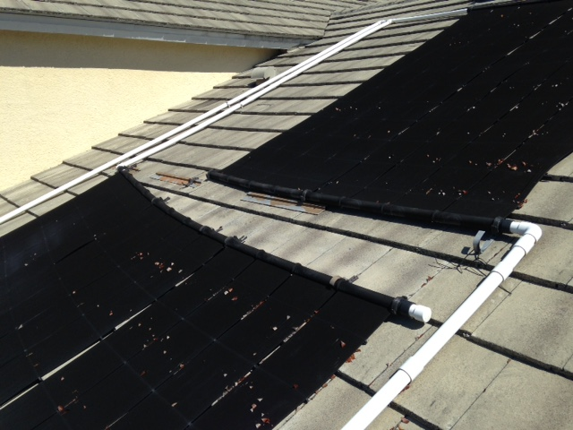 Solar Pool Panels Falling Off Roof