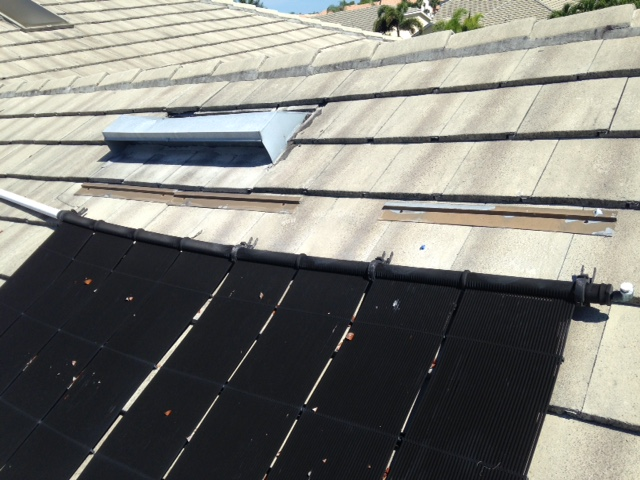 Heliocol Solar Panels Sliding Down Roof