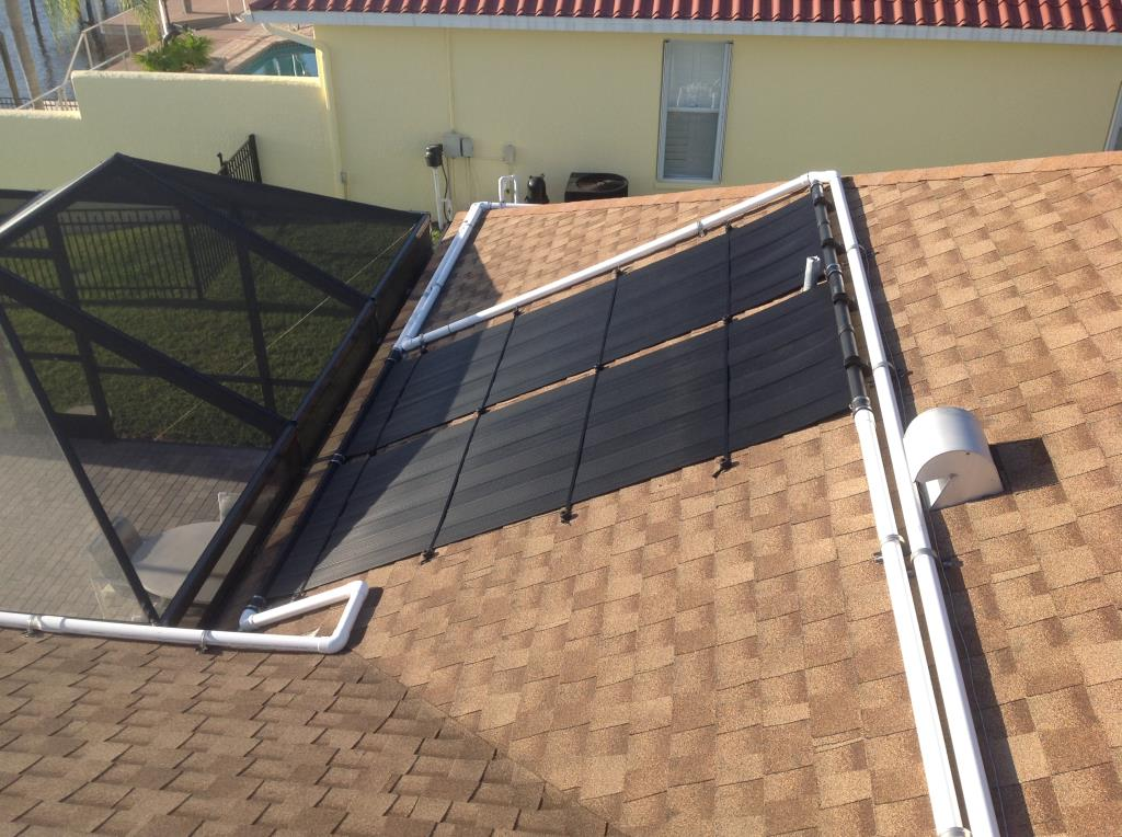 Solar Pool Heat Plumbing On Challenging Roofs