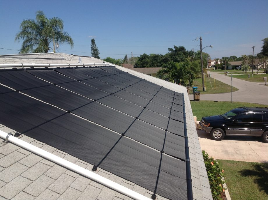 A nice and easy solar pool heater installation from March 2016 in Cape Coral.