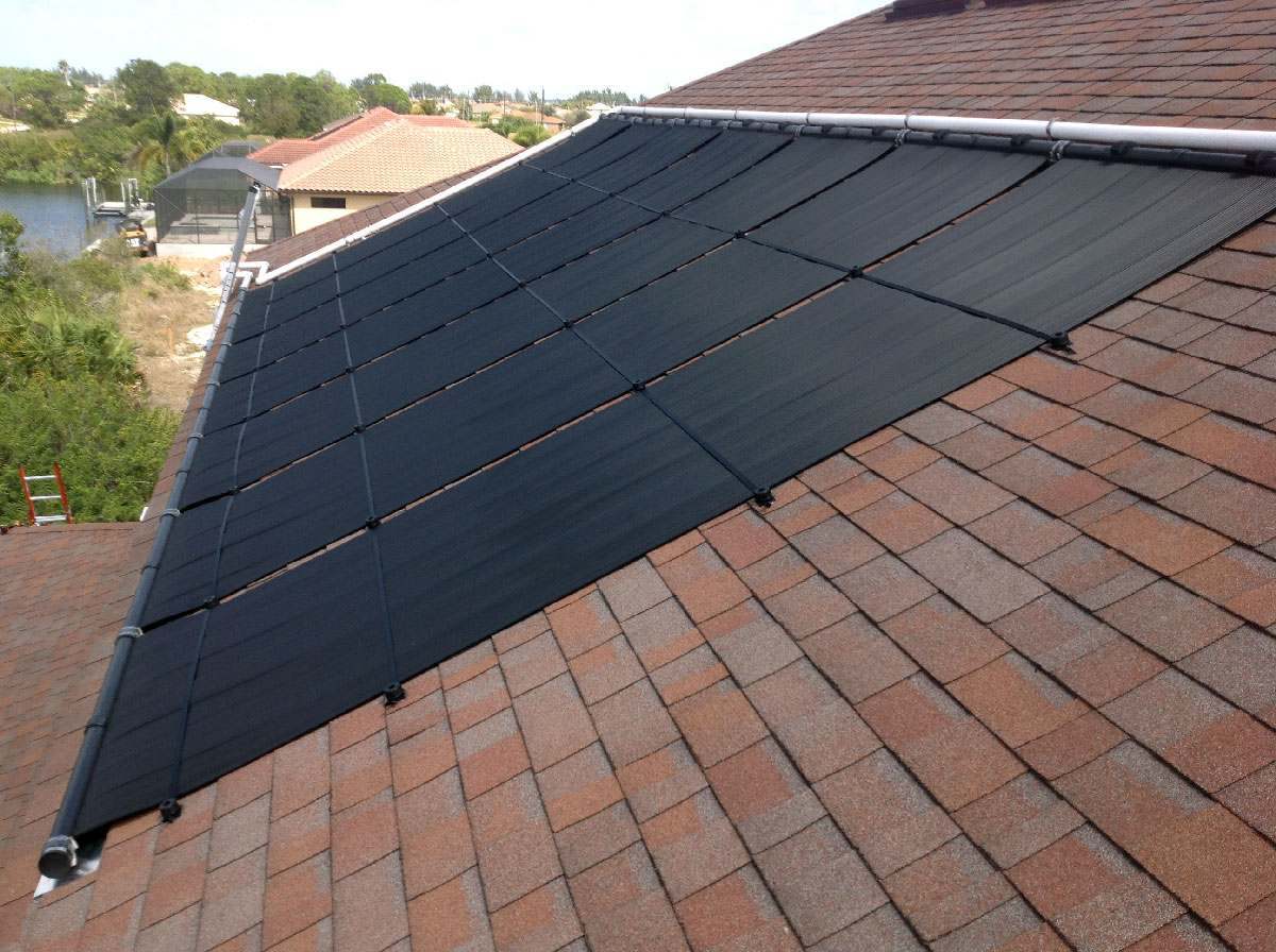 Cape Coral 2 Story Solar Pool Heater Installation