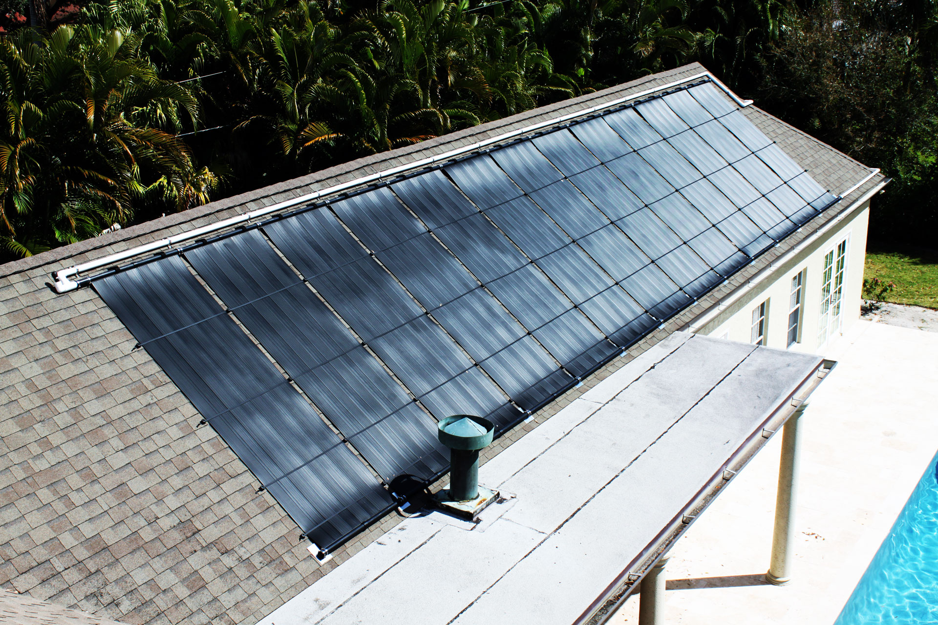 Large Solar Pool Heating System Installed in Fort Myers, FL