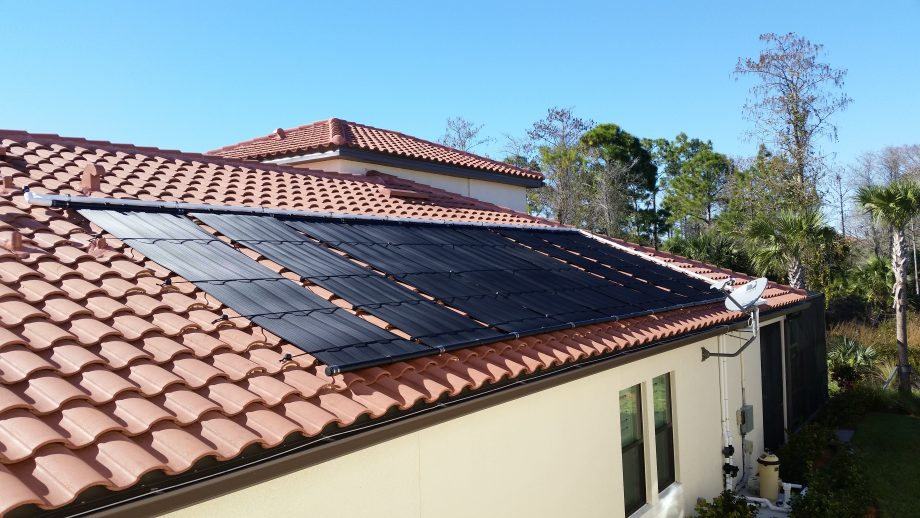Naples home gets solar pool heater florida solar design for Pool design naples fl