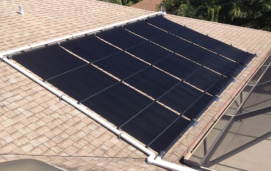 Metal Roof With Built In Solar Pool Heaters Solar Roof Energy