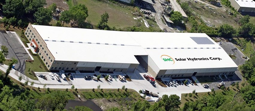 Solar Hydronics Corp Factory in Odessa, FL where iSwim solar pool heating panels are made.