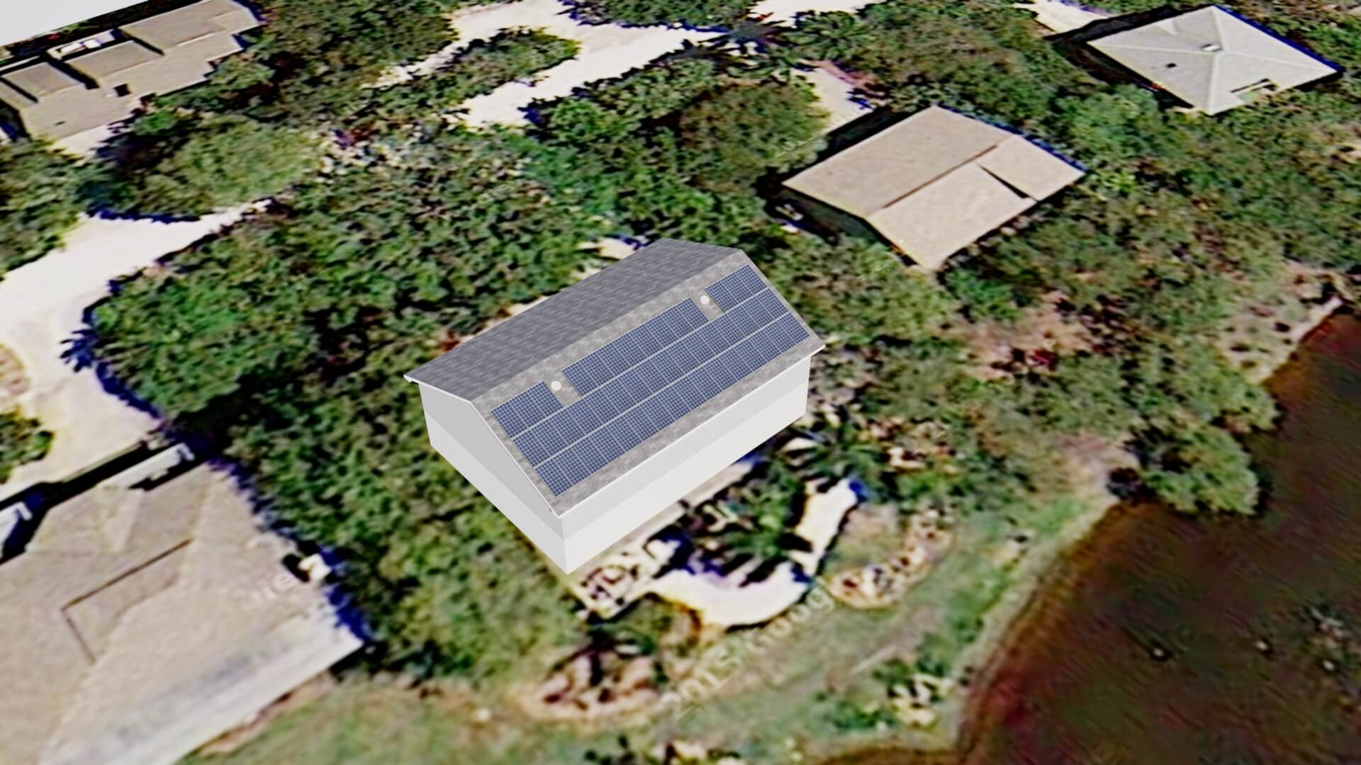 Sanibel Island Solar Electric System Design on Small Gable Roof