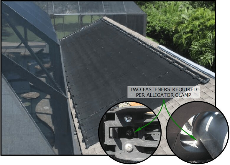 Heliocol Panels Require More Roof Penetrations Than FAFCO Brand Solar Pool Heating Panels