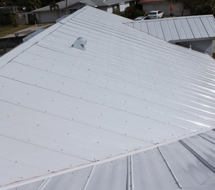 A new 5V metal roof requires thousands of screw attachments through the metal.
