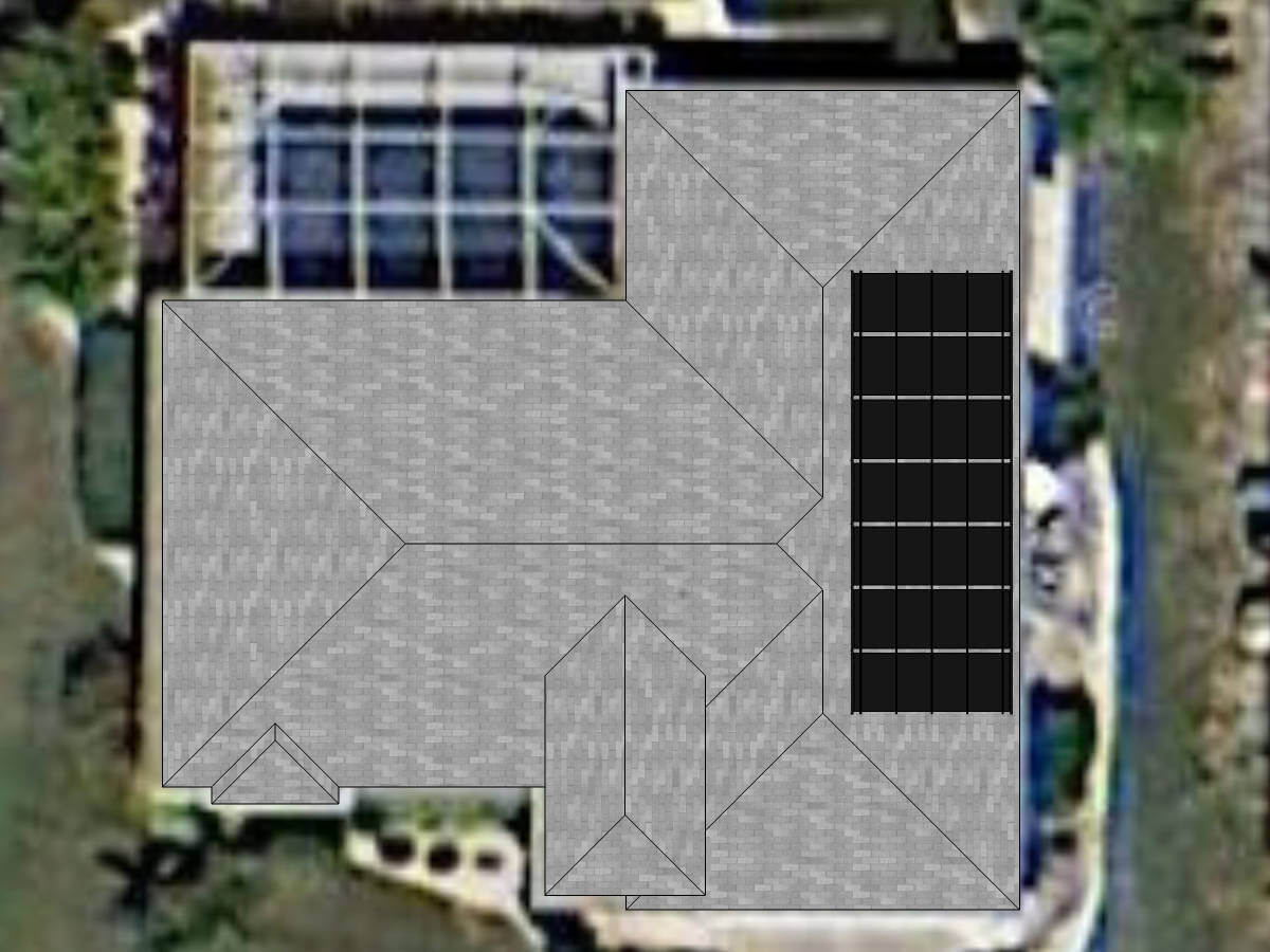Solar Pool Heating Panels on Cape Coral, FL Home