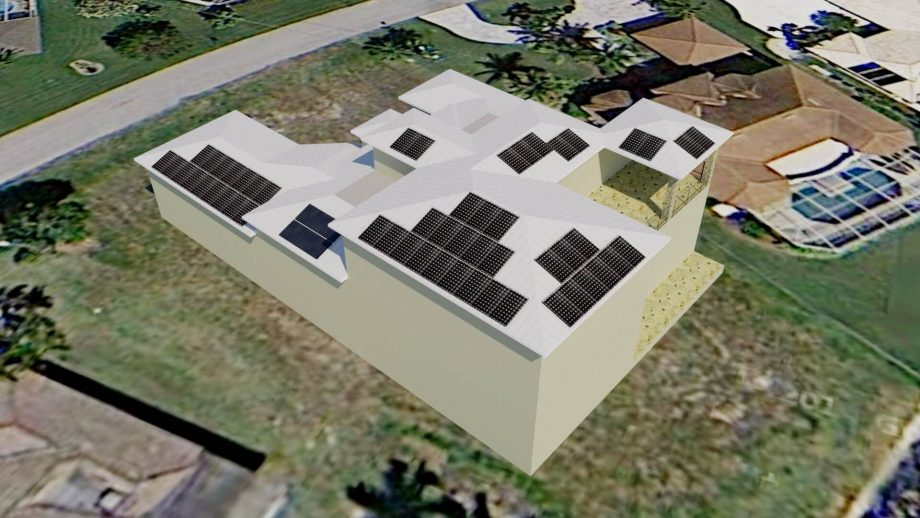 Solar Electric Panel Design for New Home in Cape Coral, FL