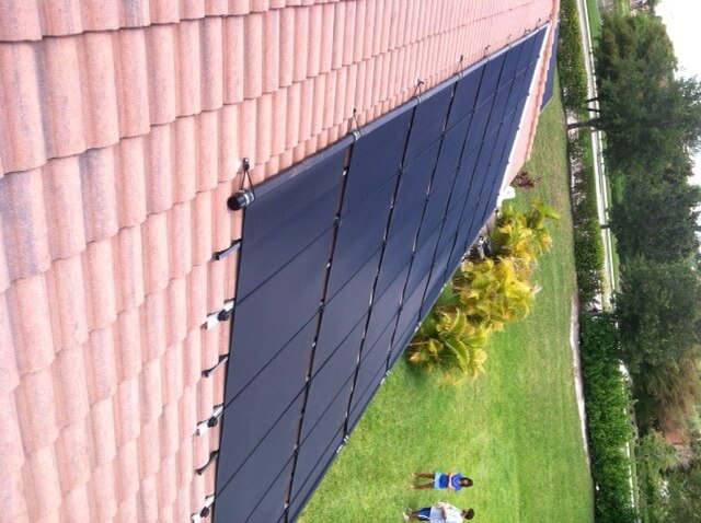 Estero Solar Pool Heater on Tile Roof