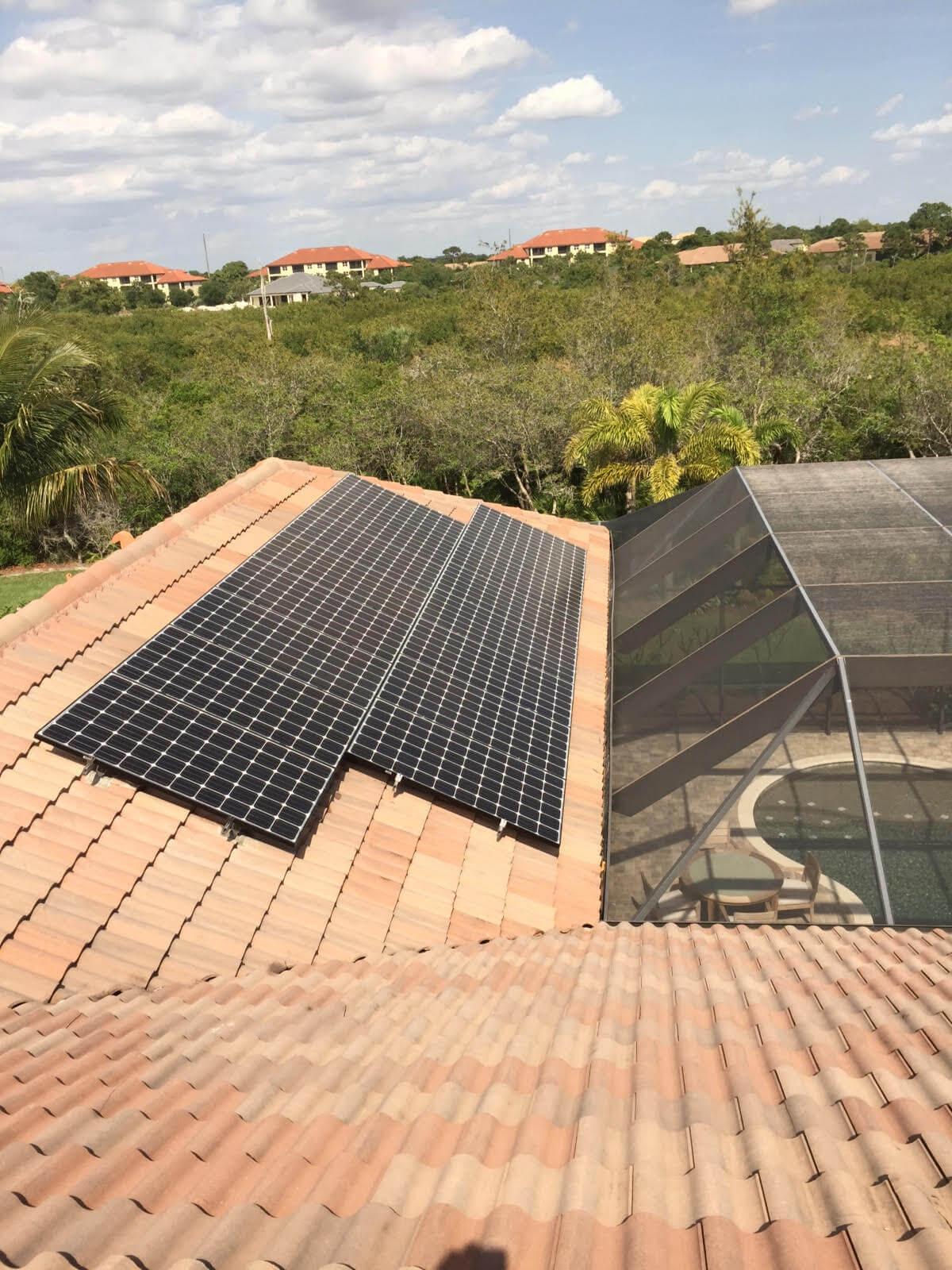 Estero, FL Solar Photovoltaic System on Tile Roof