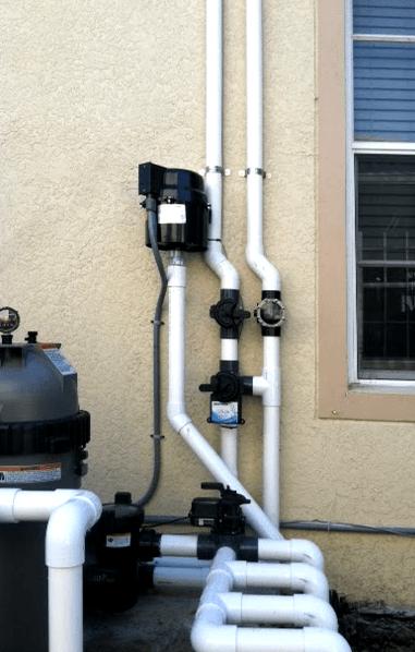 Solar Pool Heating Plumbing