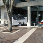 Mobile Solar Generator Trailer at Tradeshow