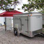 Mobile Solar Generator Trailer Beach Tailgate Party
