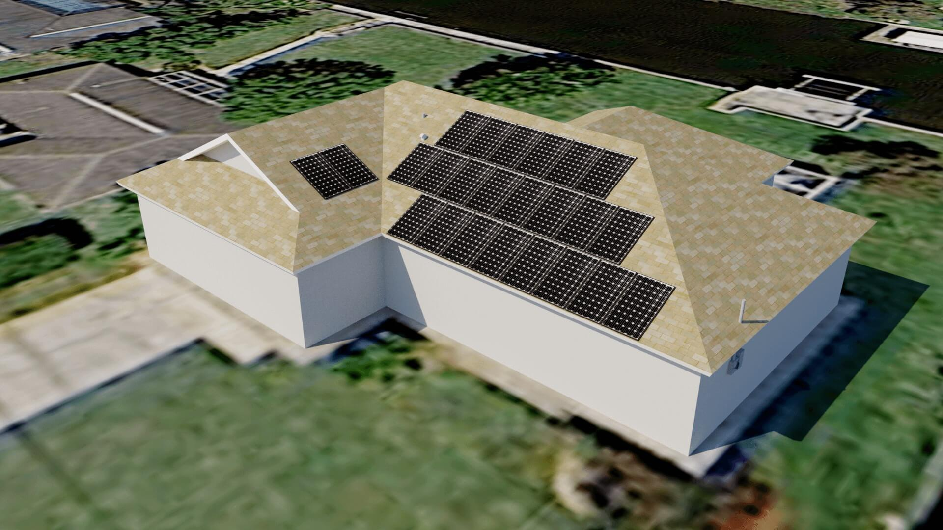 Cape Coral Fl Solar Electric System Computer Rendering