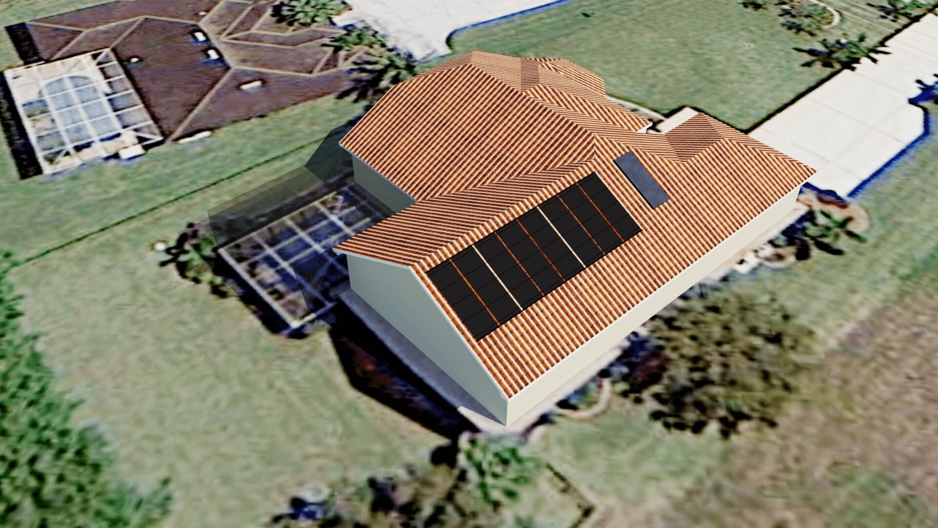 Cape Coral, FL Solar Pool Heating Design with Possible Shading