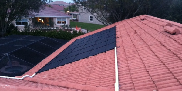 Clean Roof With Solar Panels