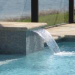 Waterfall Cools Pool