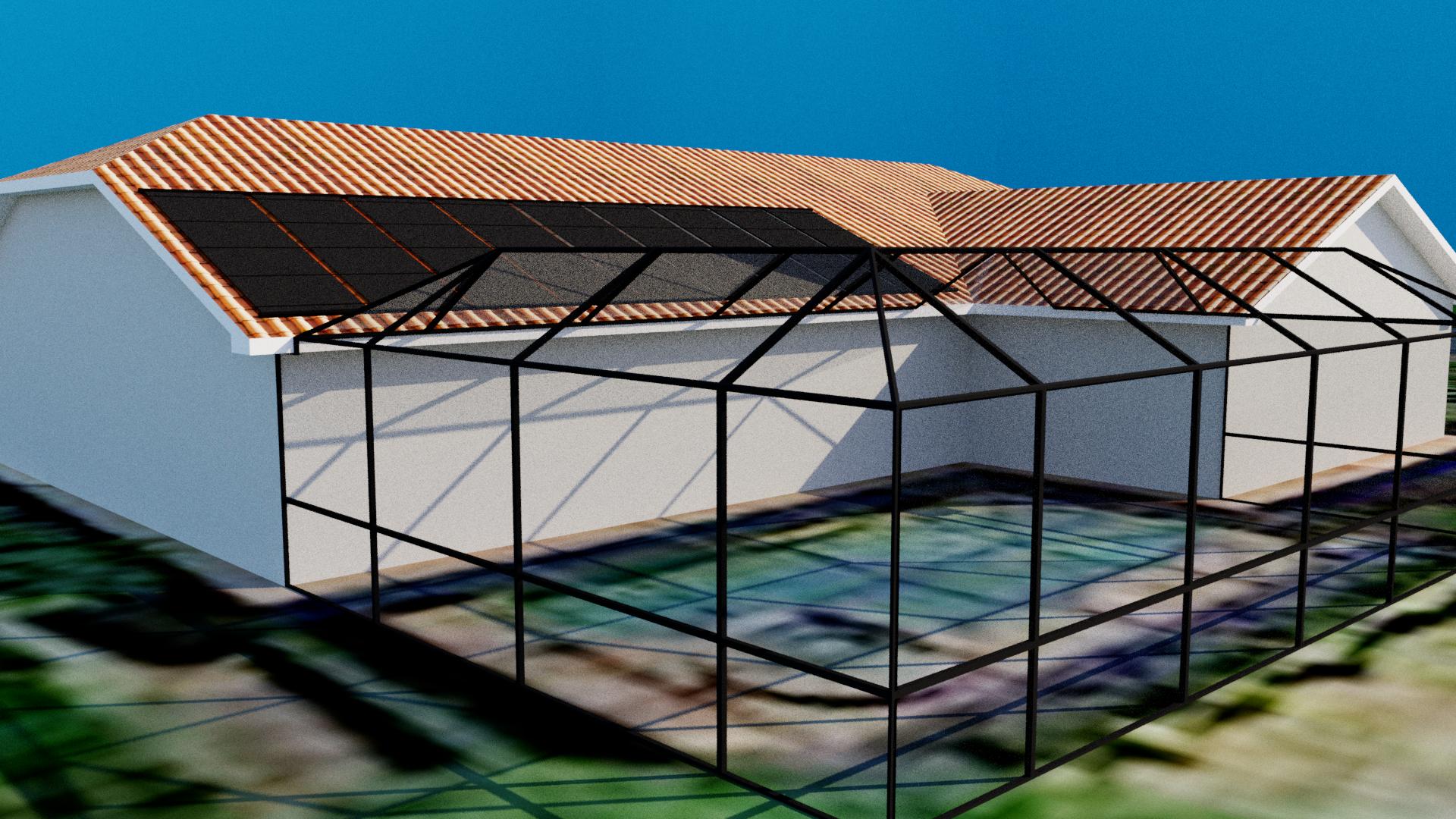 Solar panel design solar pool heating screened pool for Solar architect