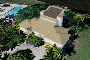 Solar Pool Heater 3D Model