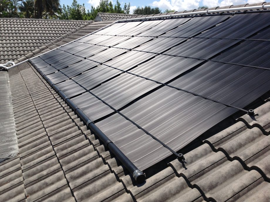 A Fort Myers, FL Solar Pool Heating Installation