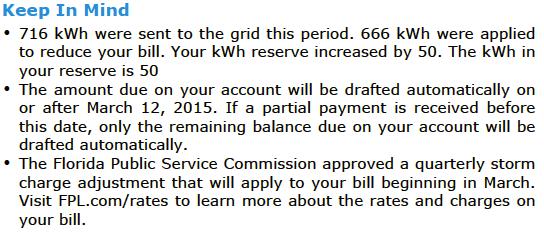 Reconciling FPL Solar Net Metering Bill