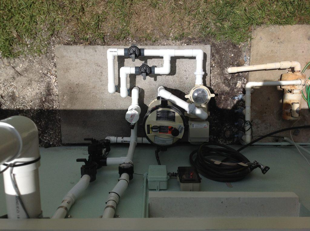 Tidy Plumbing for New Pool Equipment