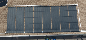 Solar Pool Heater Aerial Image Close Up