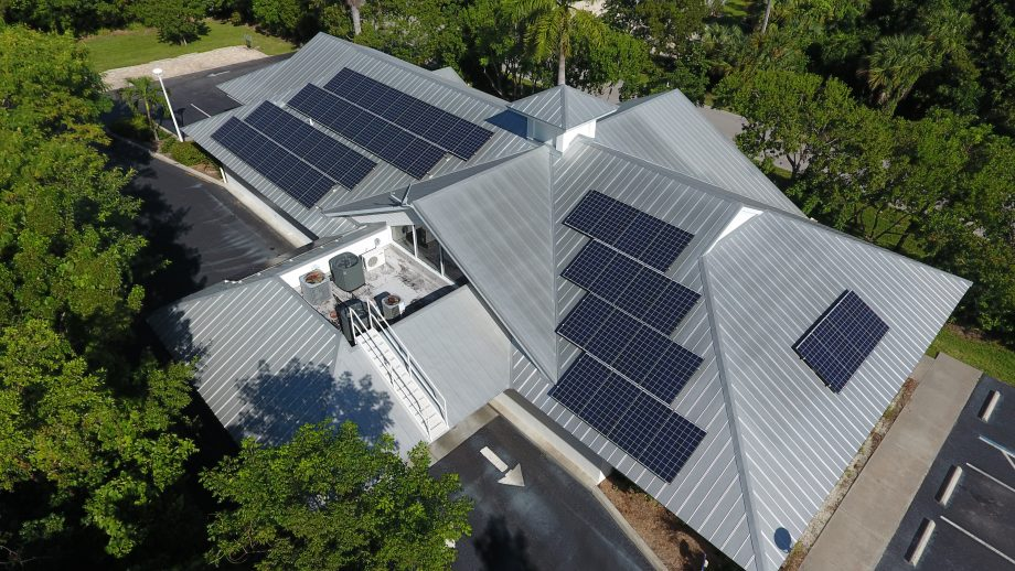 Solar Panels at Sanibel Captiva Community Bank on Sanibel Island