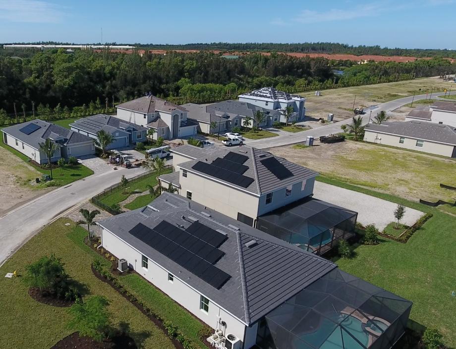 Lennar Mirada Fort Myers Solar Panels