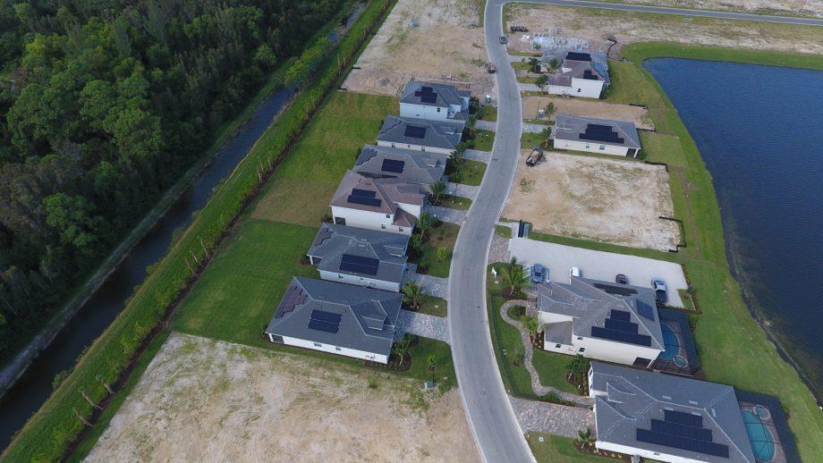 Mirada Fort Myers Solar Panels Aerial Photo