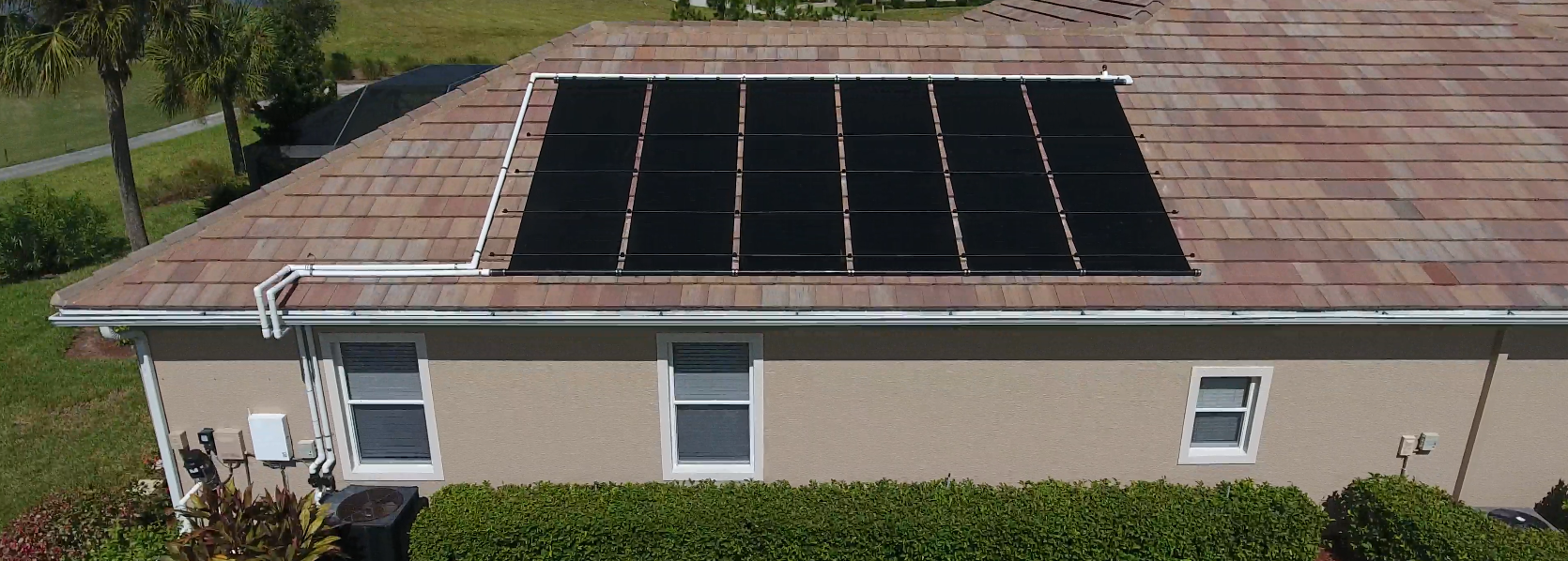 Ground Mounted Solar Pool Heaters Are Not Recommended – Mounting on the Roof is Recommended