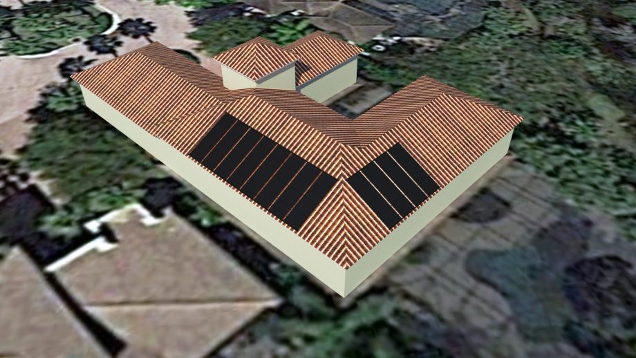 Solar Pool Heater Rendering