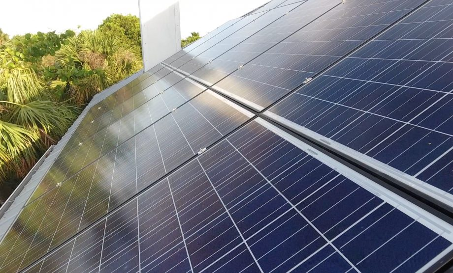 Solar Panel Drone Inspection Close Up