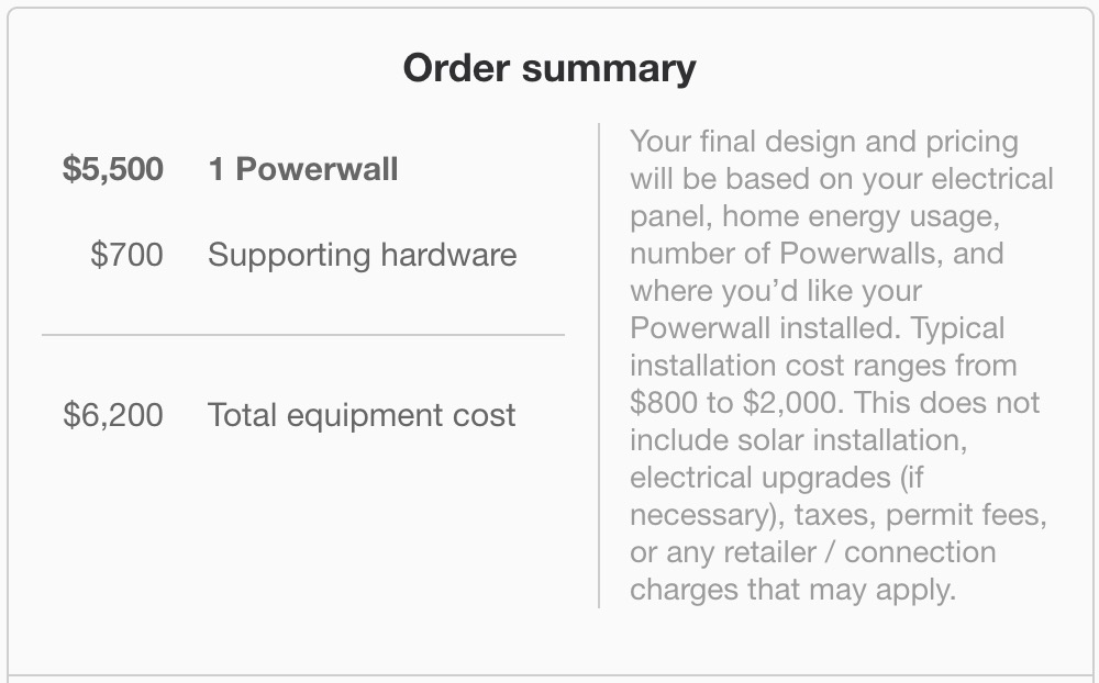 The Price of a Tesla Powerwall is not so simple, as there are many other costs.