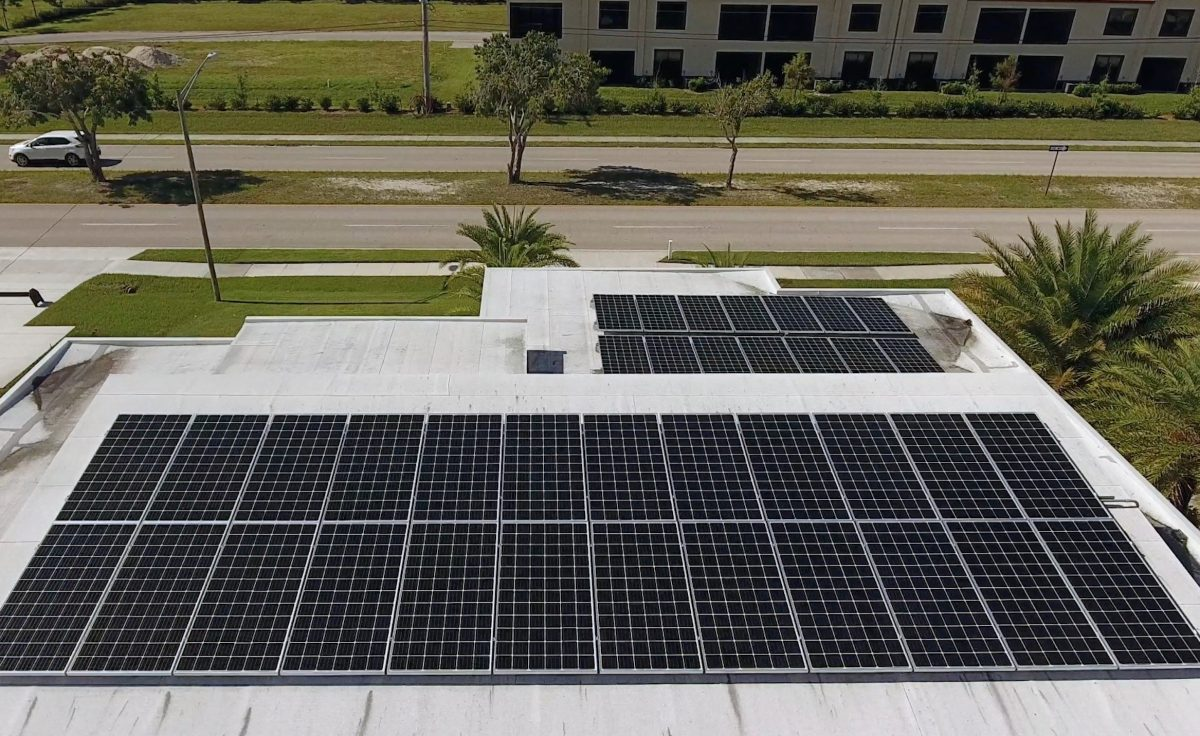 Cape Coral Solar Electricity Aerial Photo