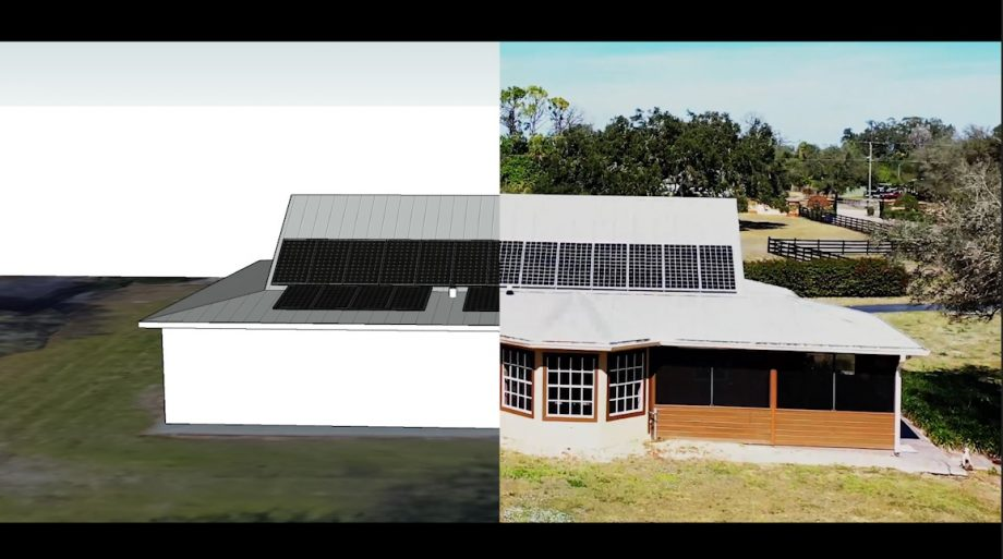 Solar Panel Design to Reality Visualization