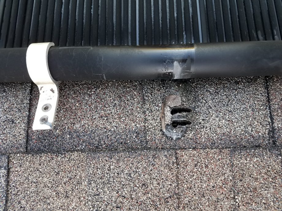 Aluminum Header Bracket Causes Roof Leak