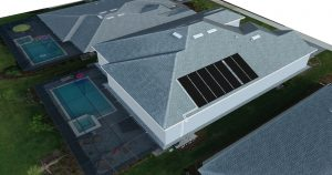 Drone Image Used to Create a 3D Computer Model of a Solar Panel Layout