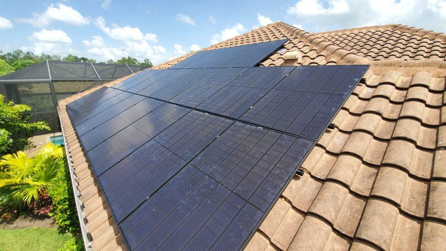 Naples REC Alpha Solar Panel Installation