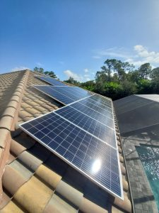Solar Panels Installed on a Tile Roof.