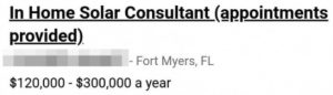 If you're looking for a 6-figure sales job, you probably should not apply here.