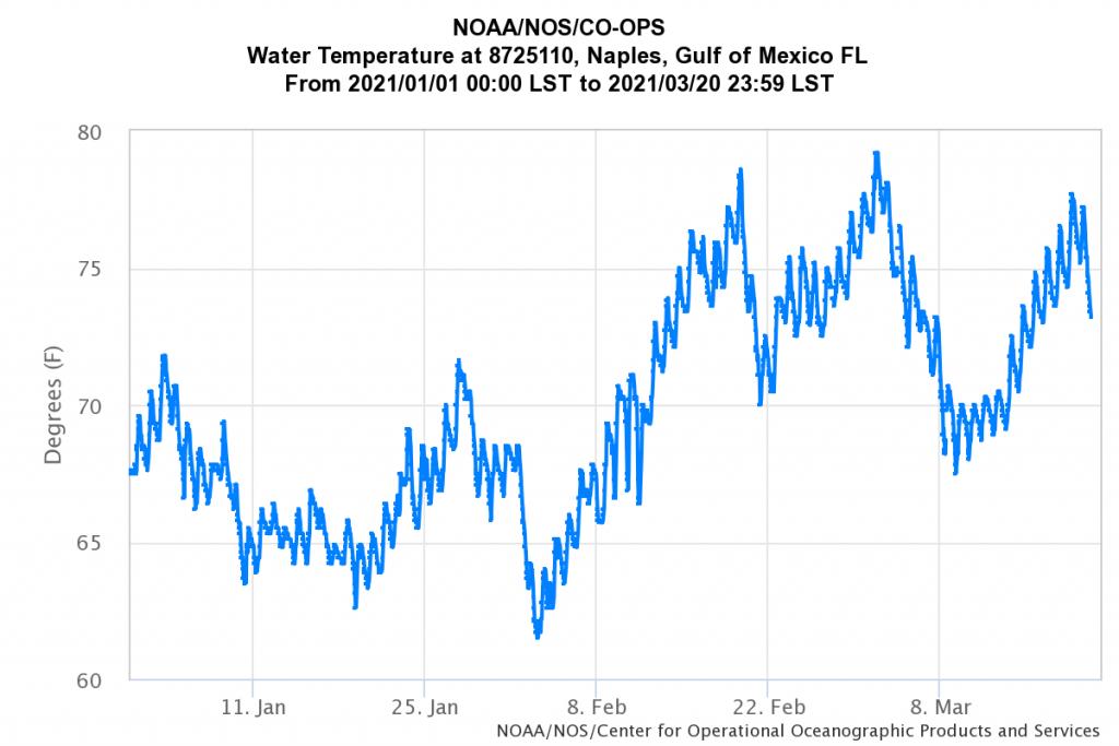 Unheated Pool Temperatures 2021