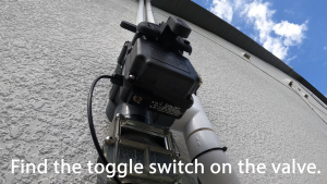 Solar Valve Actuator Toggle Switch